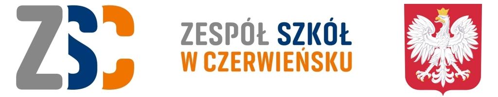 Nagłówek strony internetowej Zespołu Szkół w Czerwieńsku